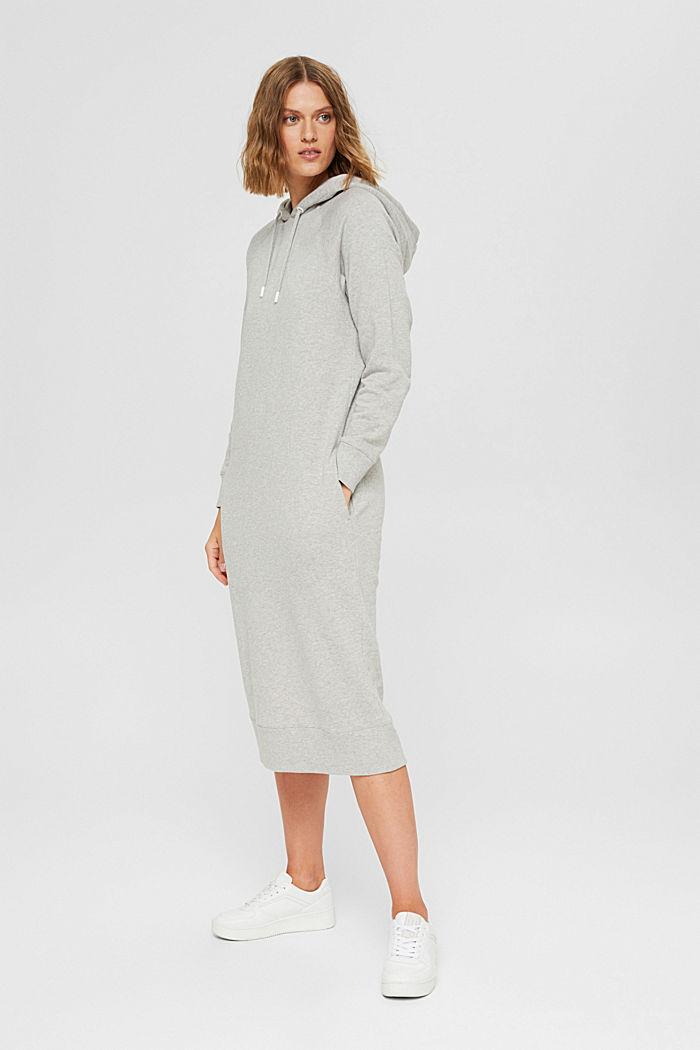 Robe molletonnée à capuche, en 100% coton, LIGHT GREY, detail image number 0