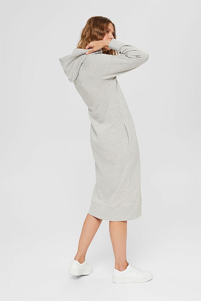 Robe molletonnée à capuche, en 100% coton, LIGHT GREY, detail image number 2
