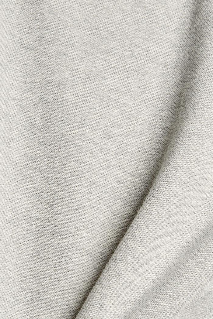 Robe molletonnée à capuche, en 100% coton, LIGHT GREY, detail image number 4