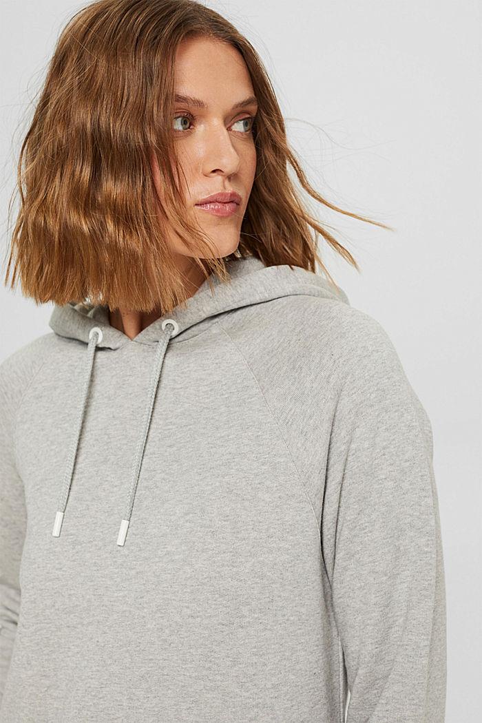 Robe molletonnée à capuche, en 100% coton, LIGHT GREY, detail image number 5