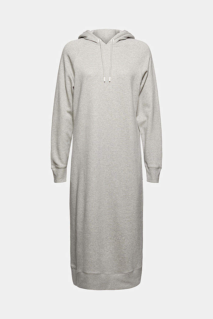 Sweathoodie-Kleid aus 100% Baumwolle