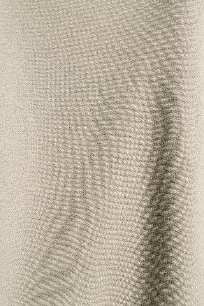 Sweathoodie-Kleid aus 100% Baumwolle, LIGHT TAUPE, detail image number 4