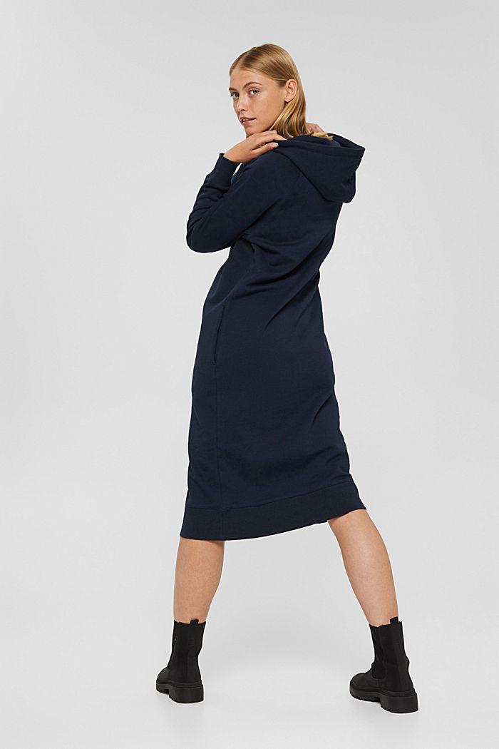 Sweathoodie-jurk van 100% katoen, NAVY, detail image number 2