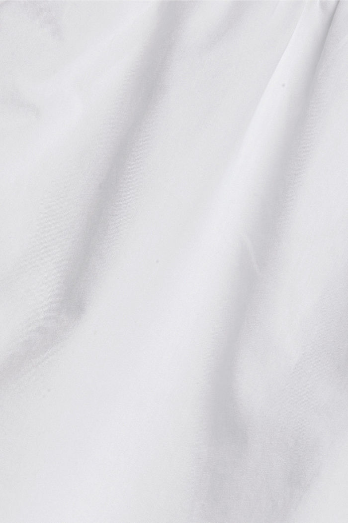 Bluse mit Stickerei und Biesen, 100% Baumwolle, WHITE, detail image number 4