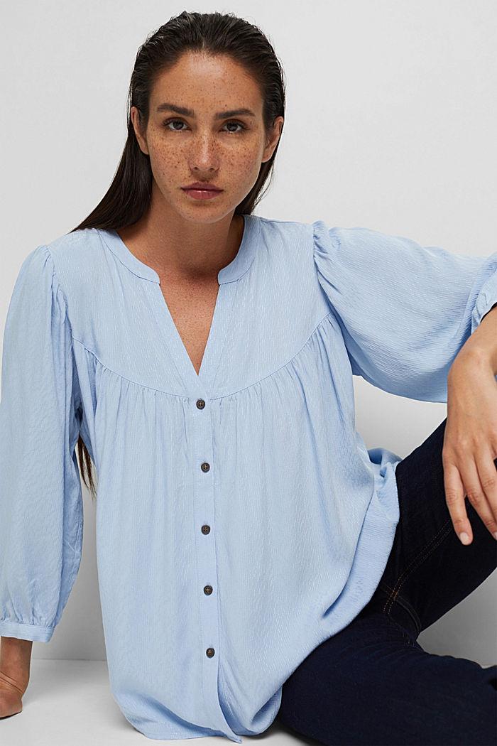 Bluse aus LENZING™ ECOVERO™, PASTEL BLUE, detail image number 5