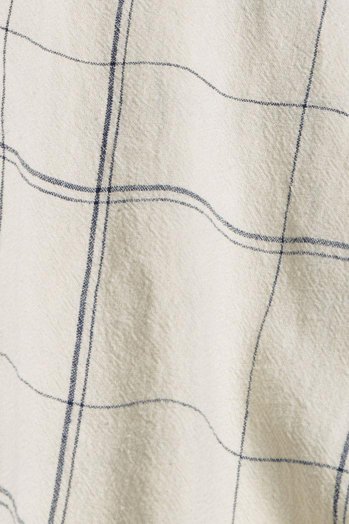 En lin mélangé: le chemisier à carreaux, OFF WHITE, detail image number 4