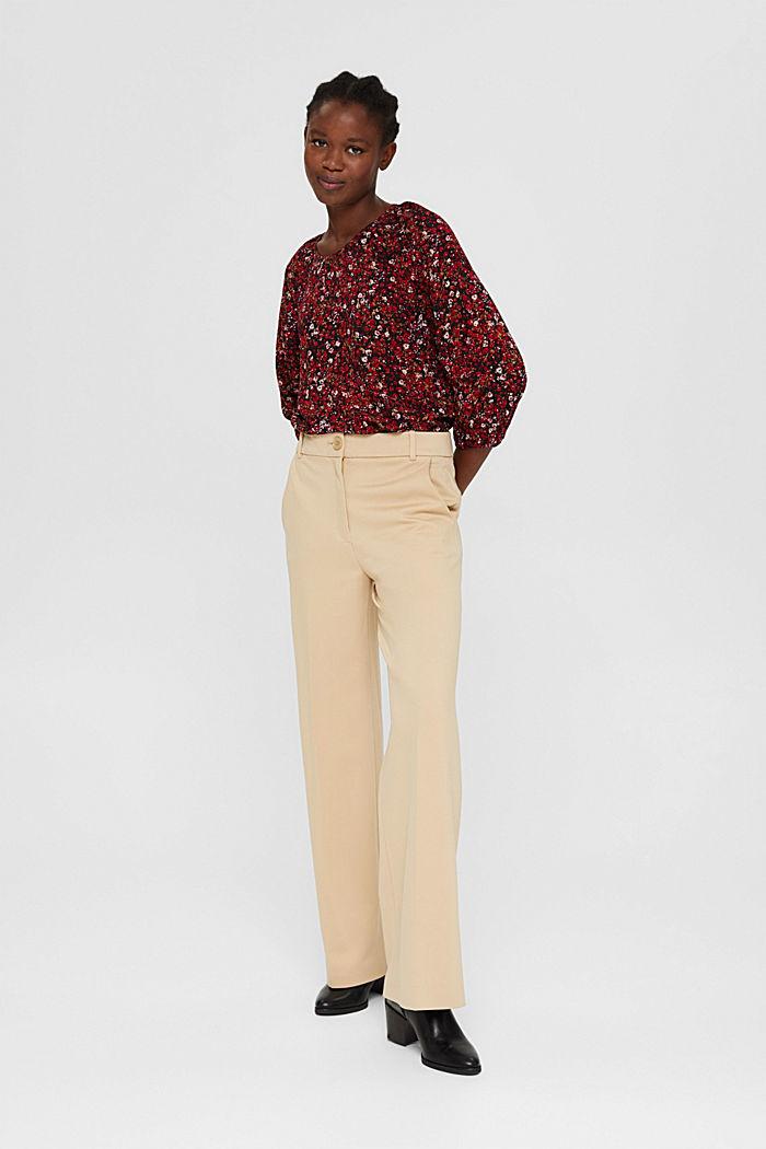Bluse mit Print, 100% LENZING™ ECOVERO™, BLACK, detail image number 1