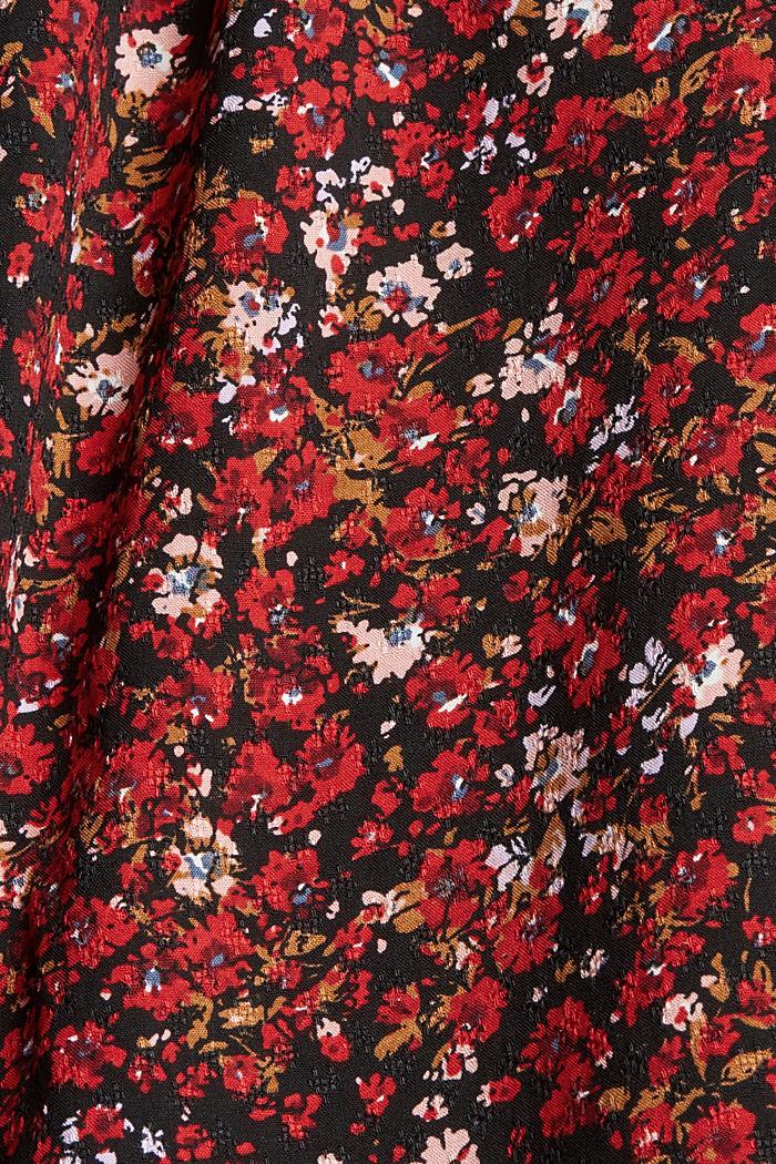 Bluse mit Print, 100% LENZING™ ECOVERO™, BLACK, detail image number 4