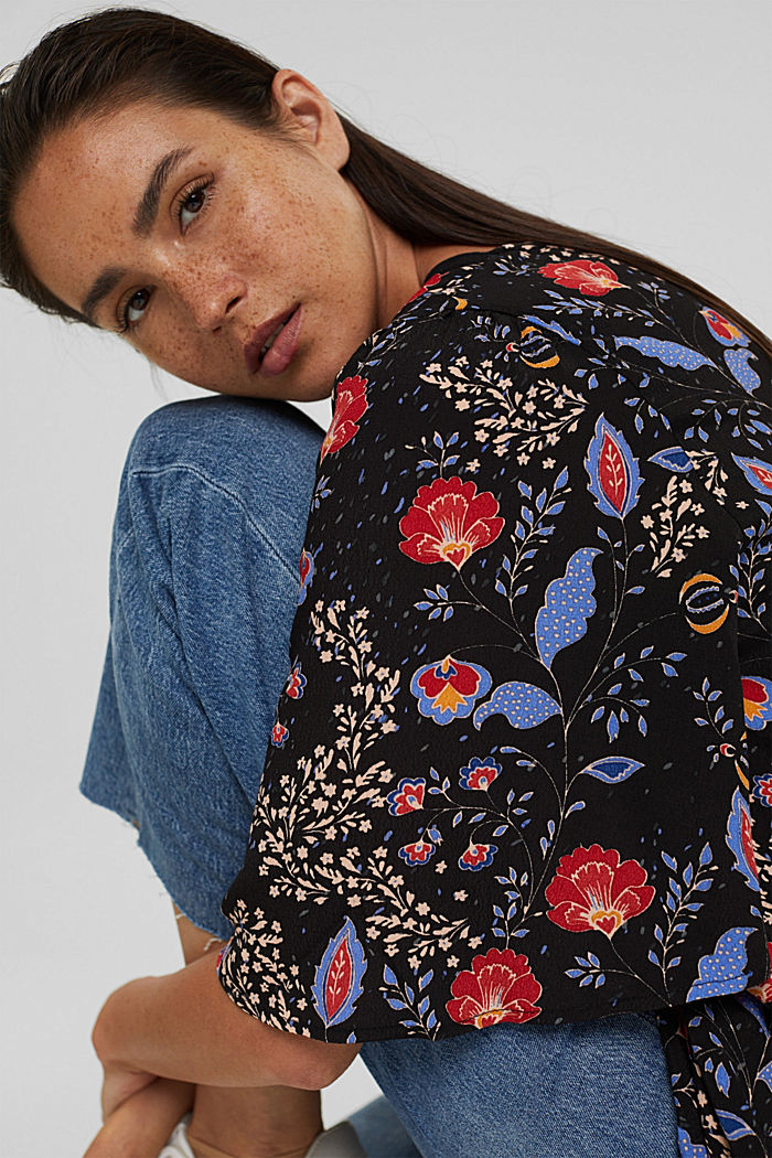 Floral blouse top with LENZING™ ECOVERO™