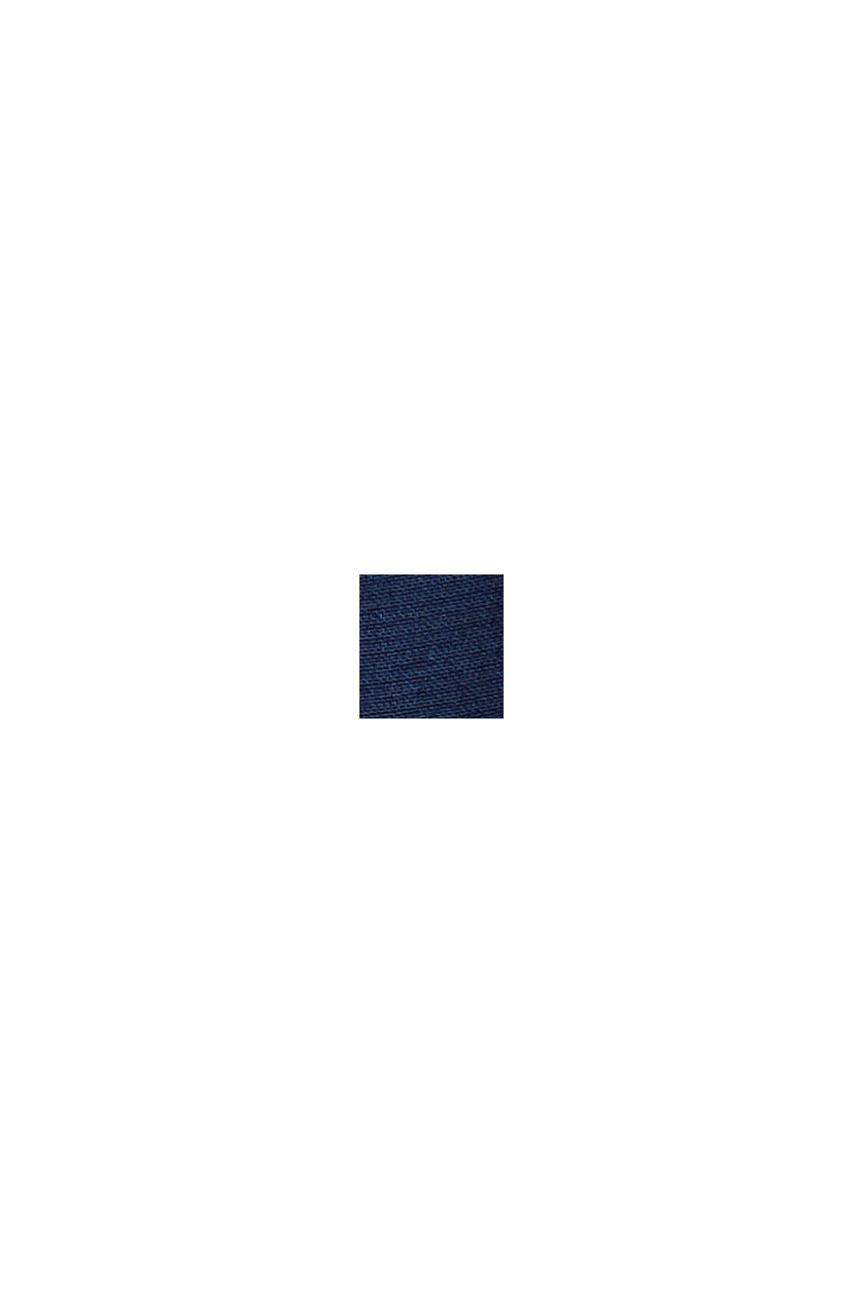 Blouse with an elasticated hem, LENZING™ ECOVERO™, NAVY, swatch