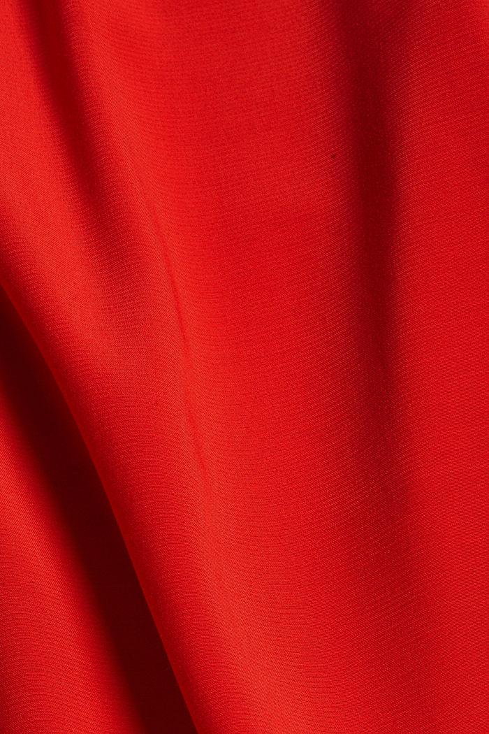 Bluse mit Elastiksaum, LENZING™ ECOVERO™, RED, detail image number 4