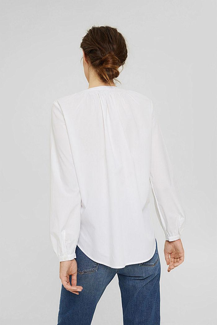 Tunikabluse aus 100% Baumwolle, WHITE, detail image number 3