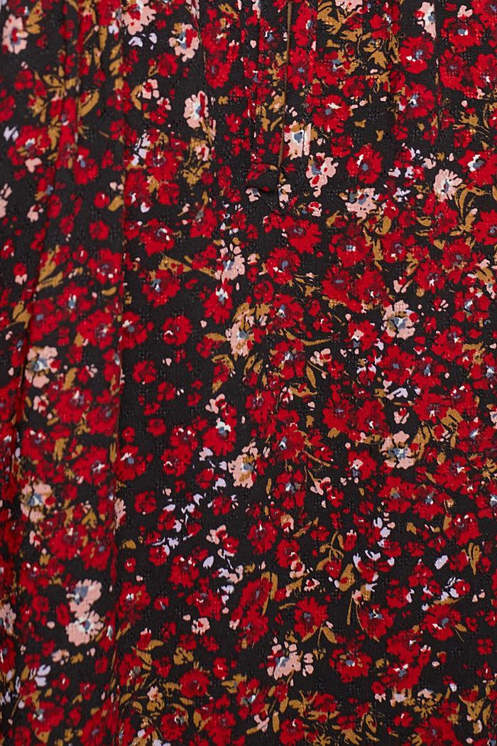Print-Bluse mit LENZING™ ECOVERO™, BLACK, detail image number 4