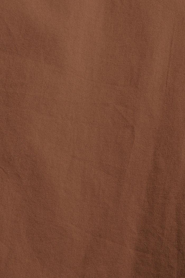 EarthColors® lange blouse, biologisch katoen, RUST BROWN, detail image number 4
