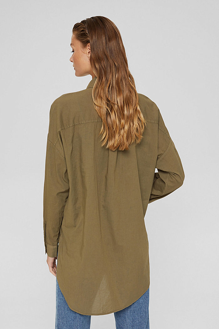 EarthColors® Long-Bluse, Organic Cotton, OLIVE, detail image number 3