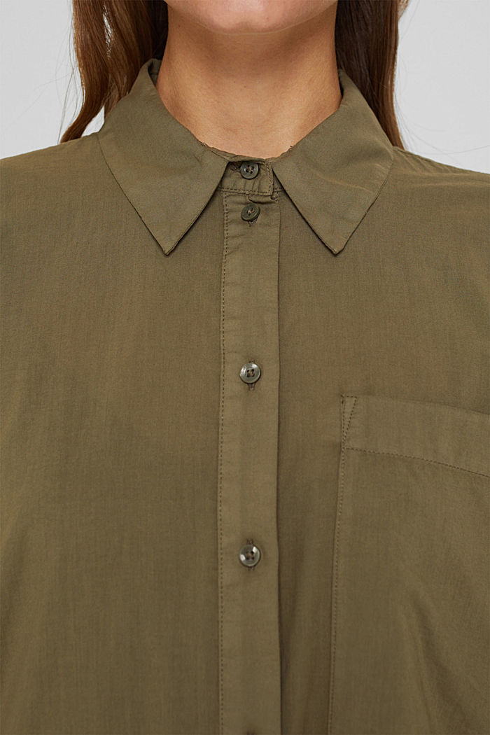 EarthColors® Long-Bluse, Organic Cotton, OLIVE, detail image number 2