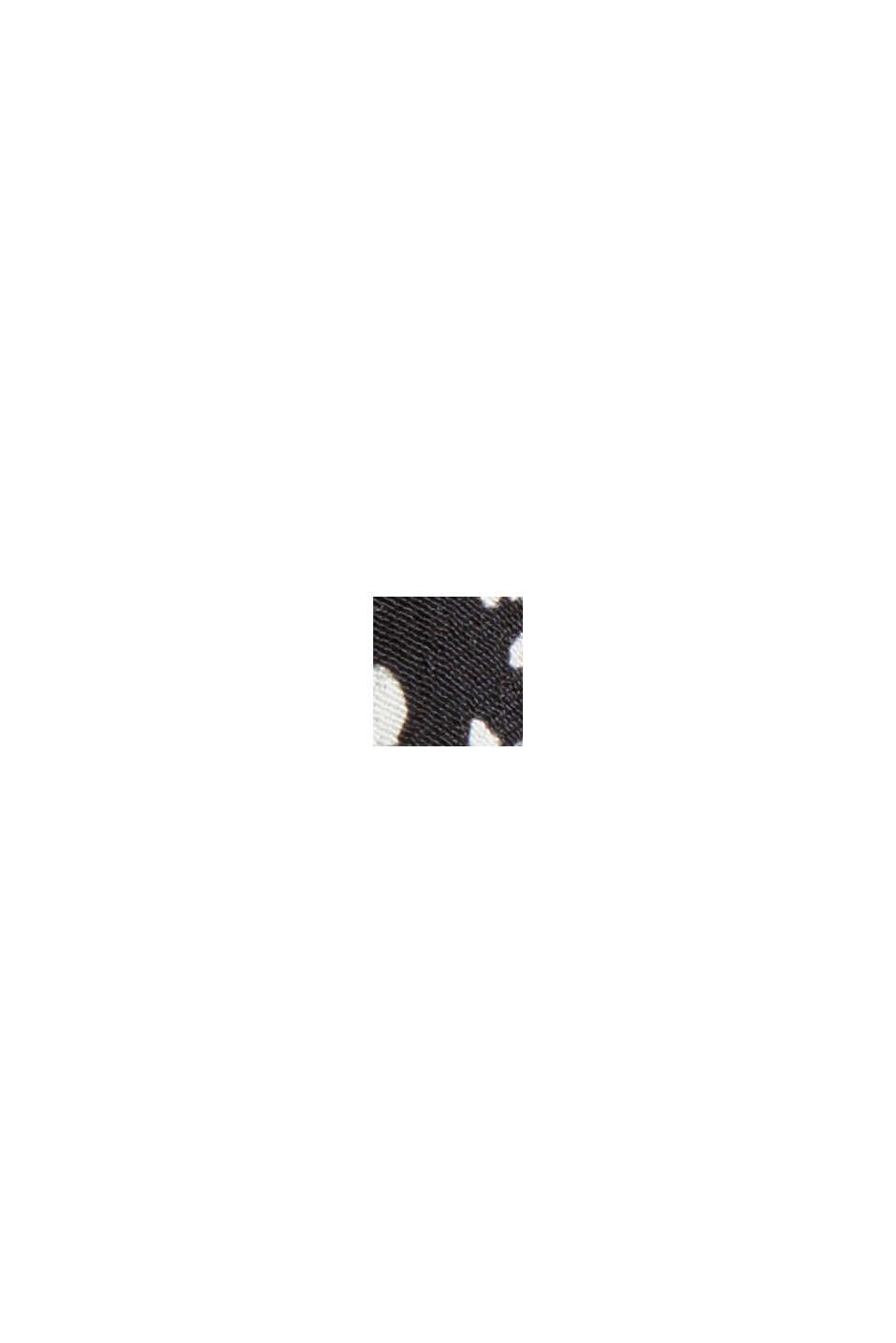 Print-Bluse mit Volantsaum, BLACK, swatch