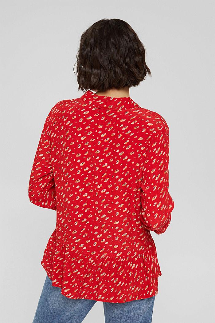 Print-Bluse mit Peplum, LENZING™ ECOVERO™, RED, detail image number 3
