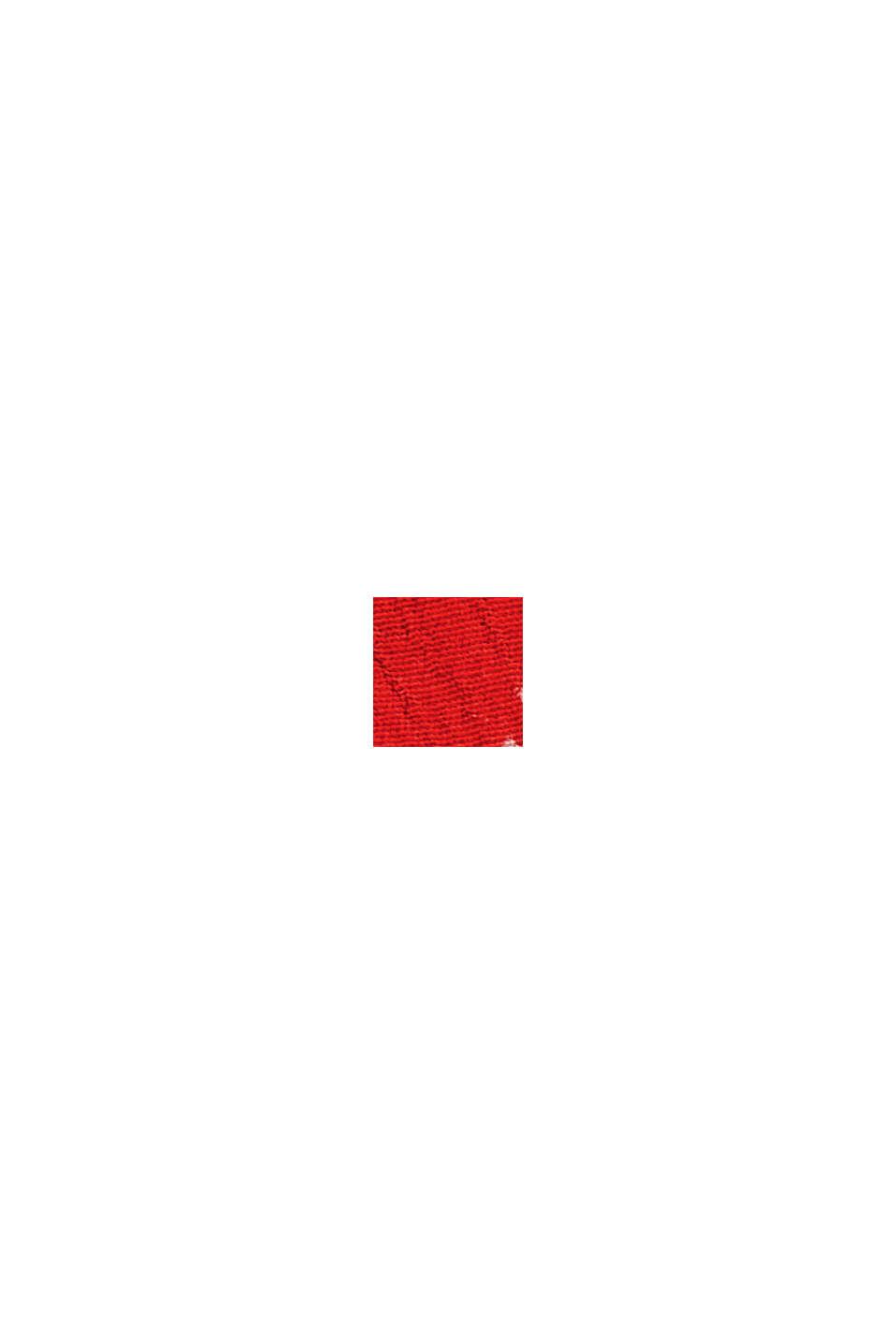 Blusa estampada con volante, LENZING™ ECOVERO™, RED, swatch