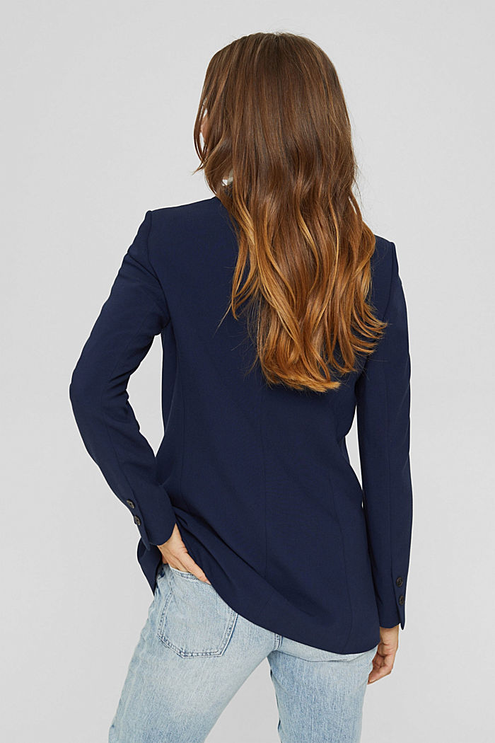 Relaxed double-breasted blazer, NAVY, detail image number 3