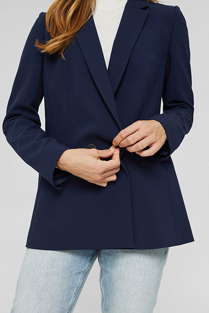 Relaxed double-breasted blazer, NAVY, detail image number 2