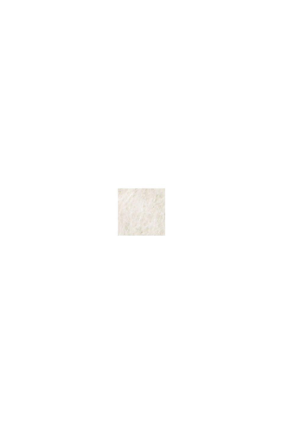 Aus recyceltem Woll-Mix: hairy Shacket mit Karo, BLACK, swatch