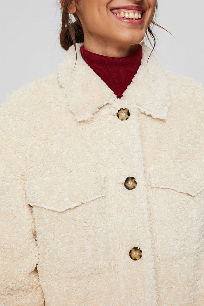 Recycelt: Shacket in Shearling-Optik, ICE, detail image number 2