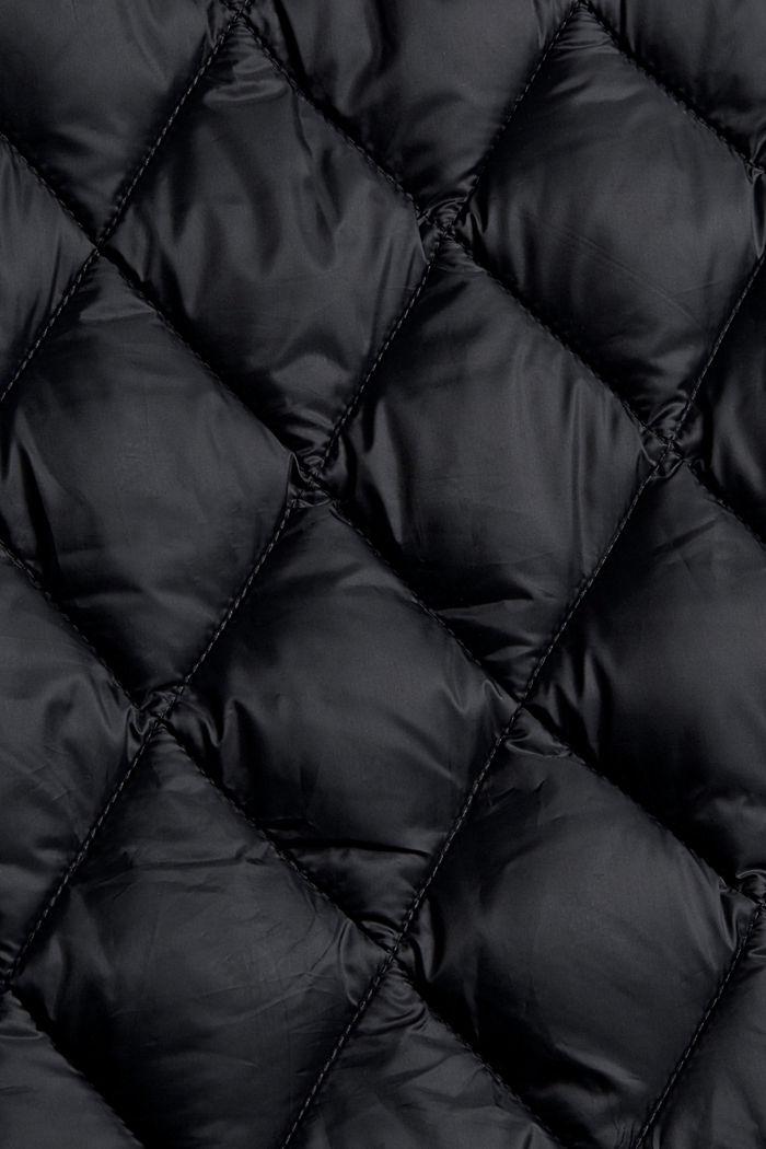 Recycelt: Steppjacke mit Strickärmeln, BLACK, detail image number 4