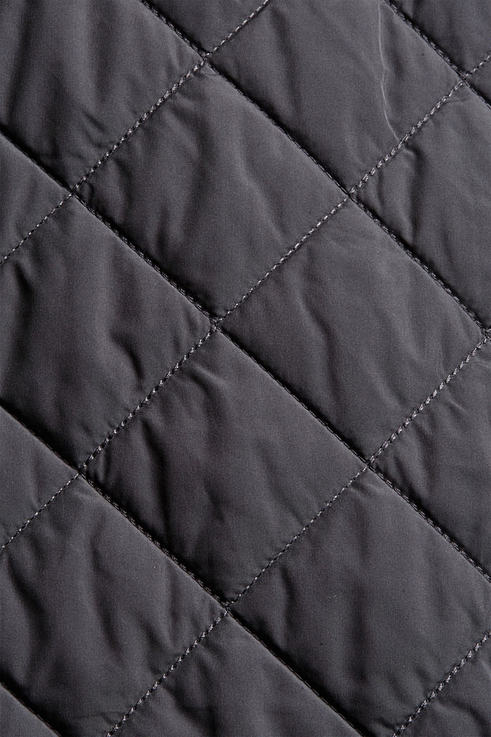 Recycled: diamond pattern quilted coat, ANTHRACITE, detail image number 4