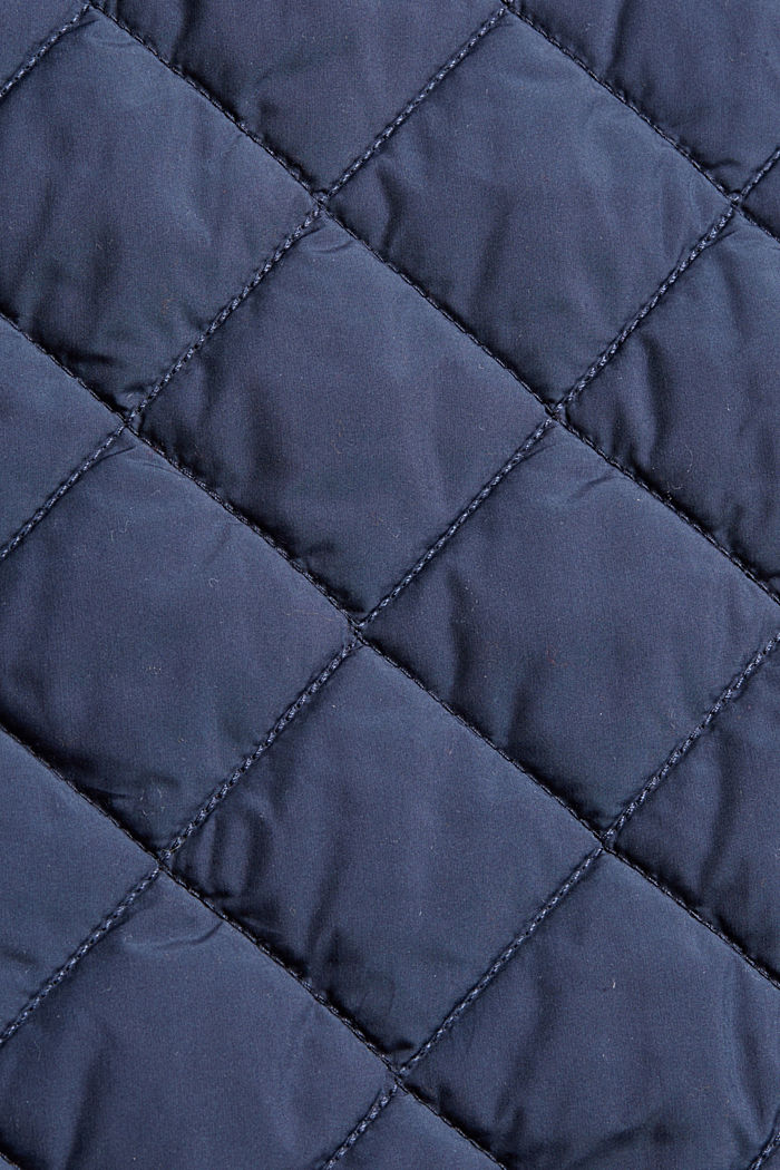 Recycled: diamond pattern quilted coat, NAVY, detail image number 4