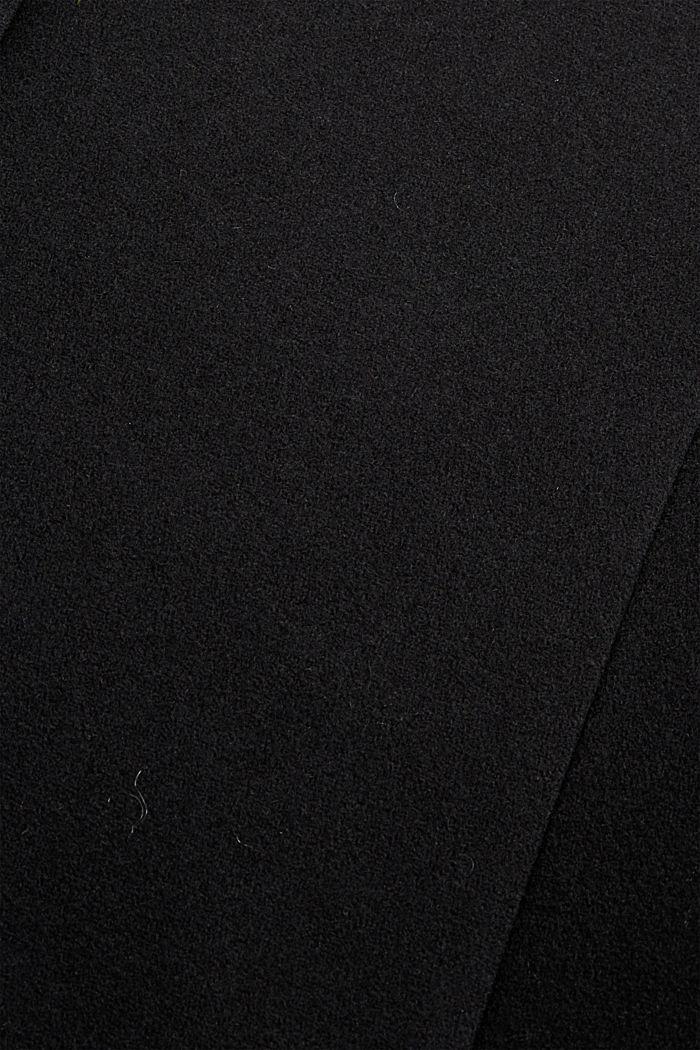 Recycled: wool blend blazer coat, BLACK, detail image number 4