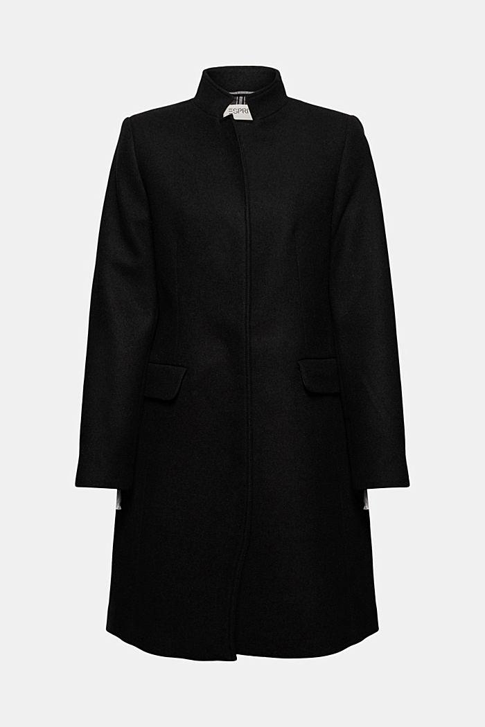 En matières recyclées: le manteau blazer en laine mélangée
