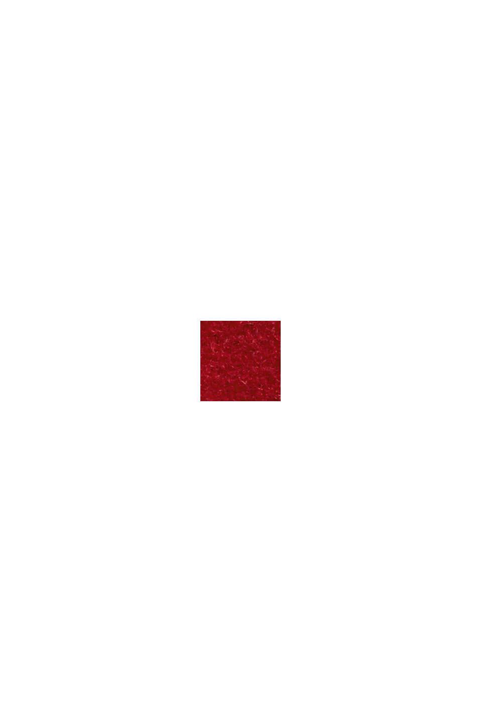 En laine mélangée recyclée : le manteau à col montant, DARK RED, swatch