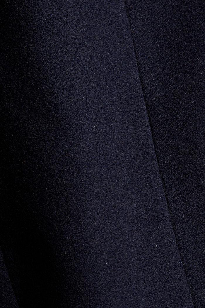 Aus recyceltem Woll-Mix: Blazermantel, NAVY, detail image number 4