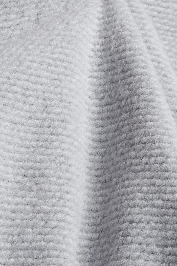 Mit Wolle: strukturierter Blazermantel, LIGHT GREY, detail image number 4