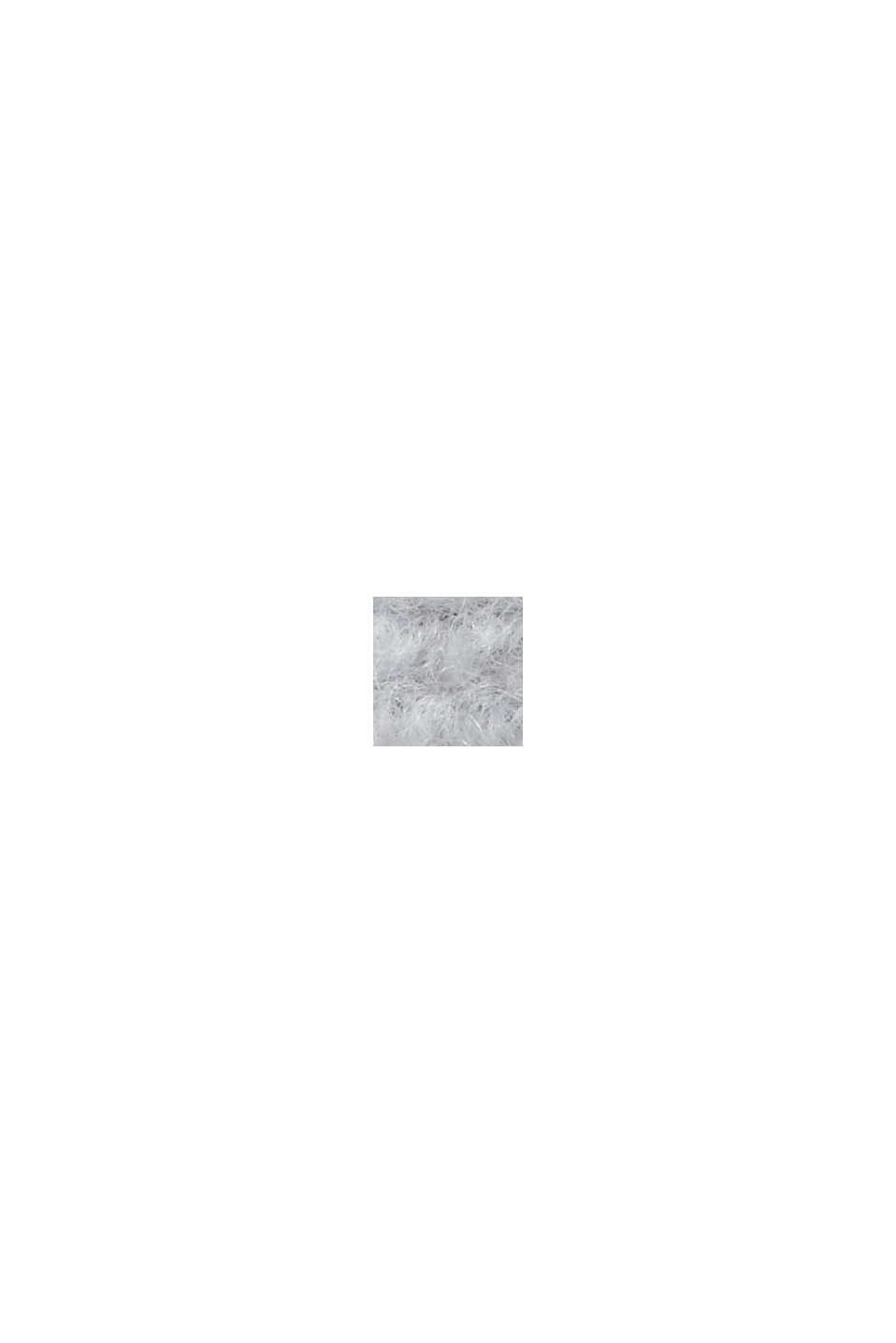Mit Wolle: strukturierter Blazermantel, LIGHT GREY, swatch