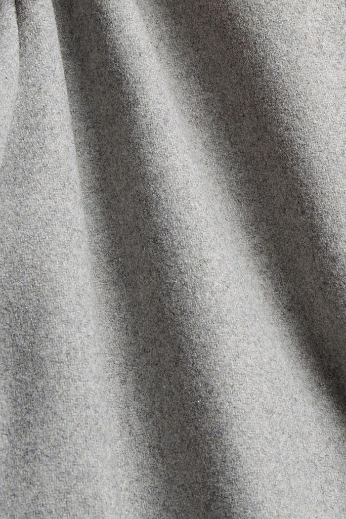 Mit recycelter Wolle: Jacke mit Kapuze, LIGHT GREY, detail image number 4