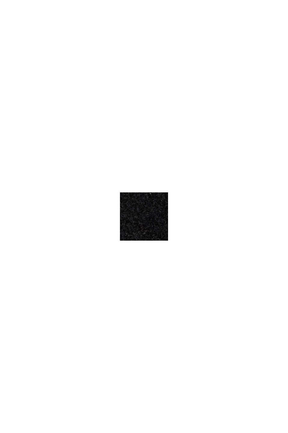 Med återvunnen ull: Jacka med huva, BLACK, swatch