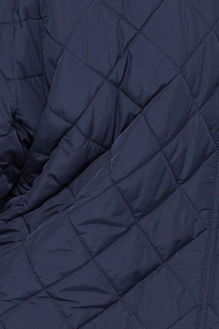 CURVY Recycelt: Oversize Steppmantel, NAVY, detail image number 4