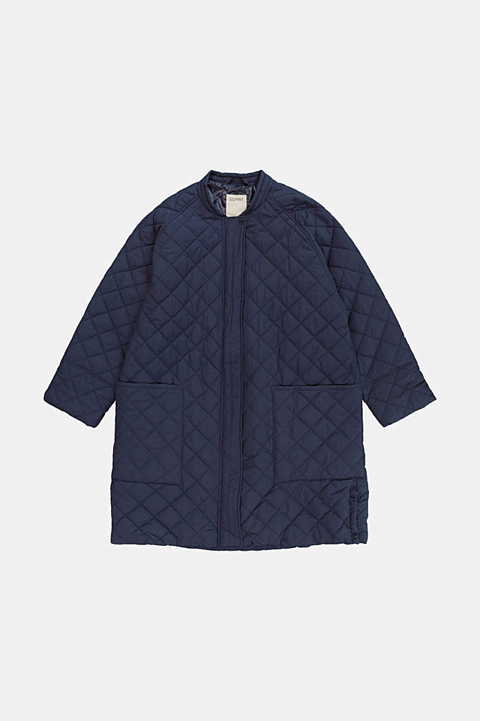 CURVY recycled: Oversized quilted coat