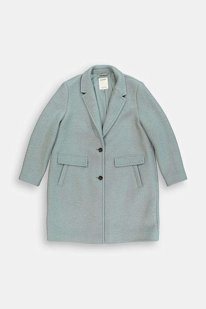 CURVY blazer coat in a wool blend