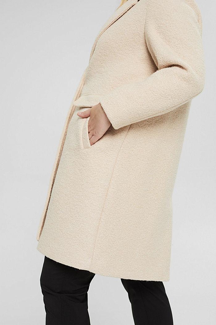 CURVY Blazer-Mantel aus Woll-Mix, ICE, detail image number 2