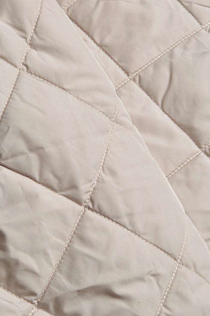100% Recycelt: Steppjacke mit großen Taschen, CREAM BEIGE, detail image number 4
