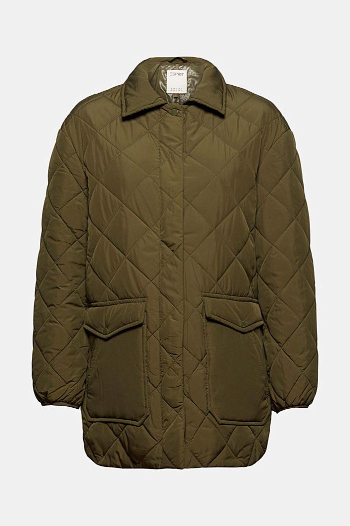 100% en matière recyclé: la veste matelassée à grandes poches, DARK KHAKI, detail image number 6