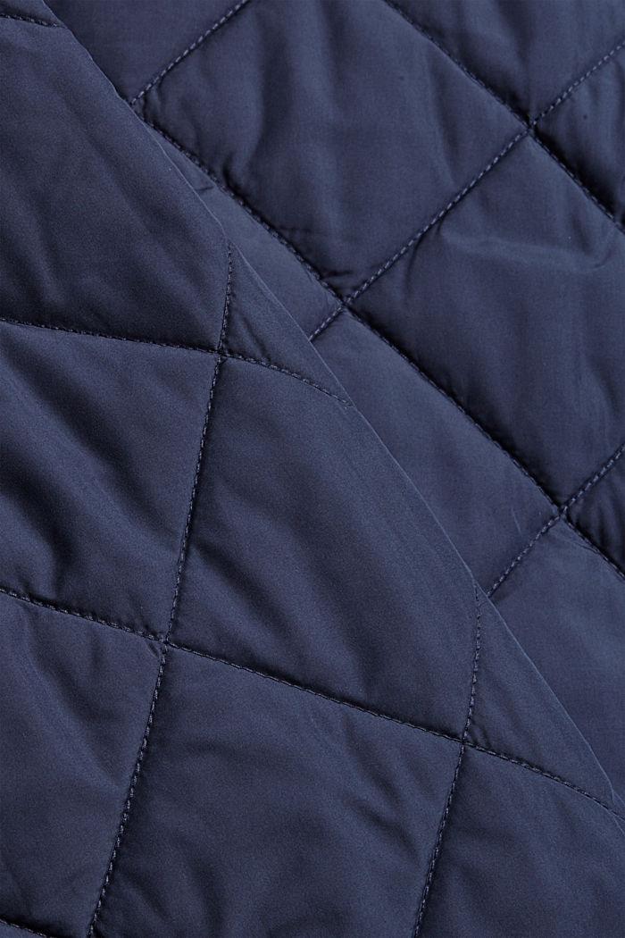 100% Recycelt: Steppjacke mit großen Taschen, NAVY, detail image number 4