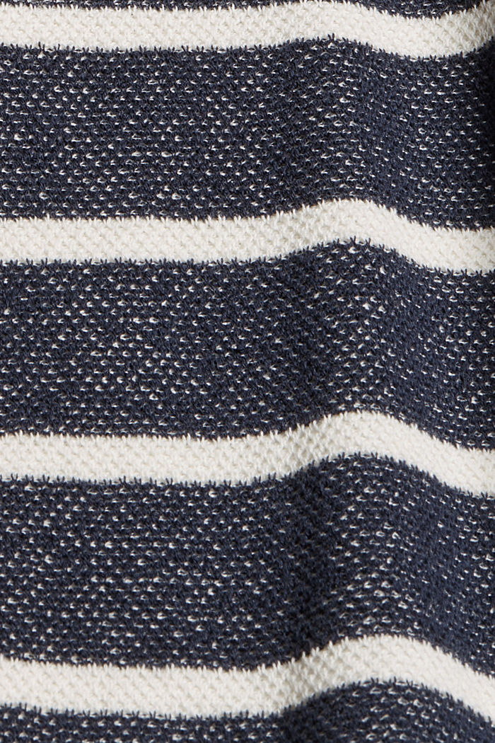 Batwing jumper made of 100% organic cotton, NAVY, detail image number 4