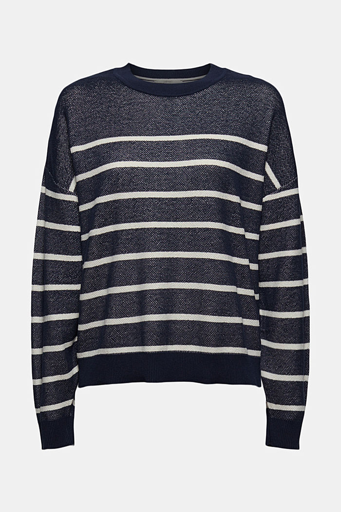 Batwing jumper made of 100% organic cotton, NAVY, detail image number 7