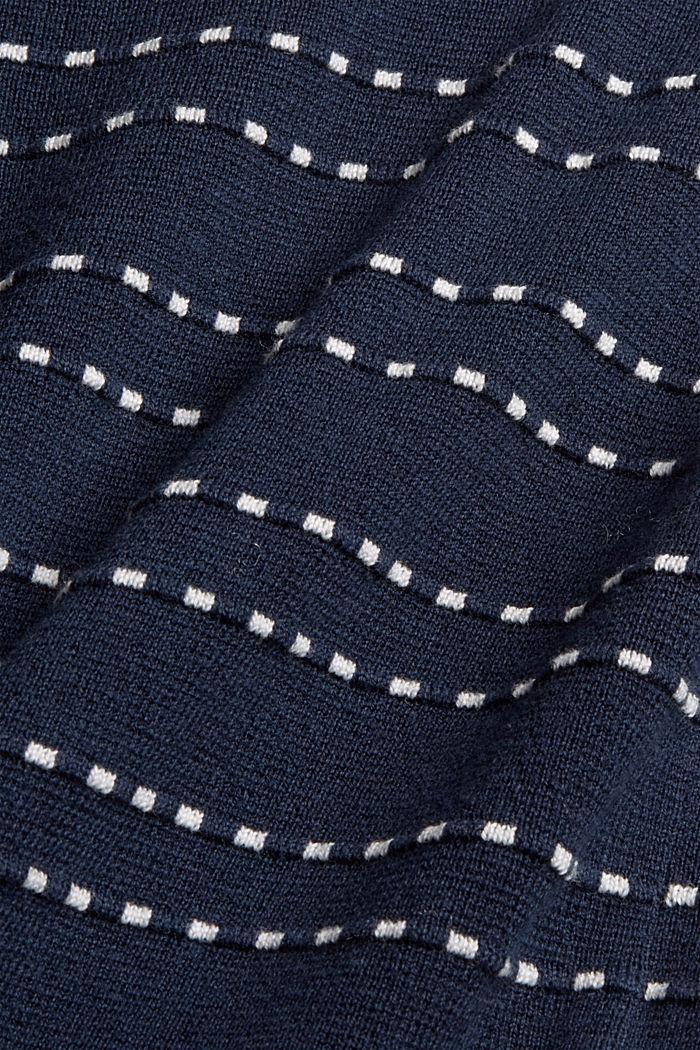 U-Boot-Pullover mit Stitchings, Bio-Baumwoll-Mix, NAVY, detail image number 4