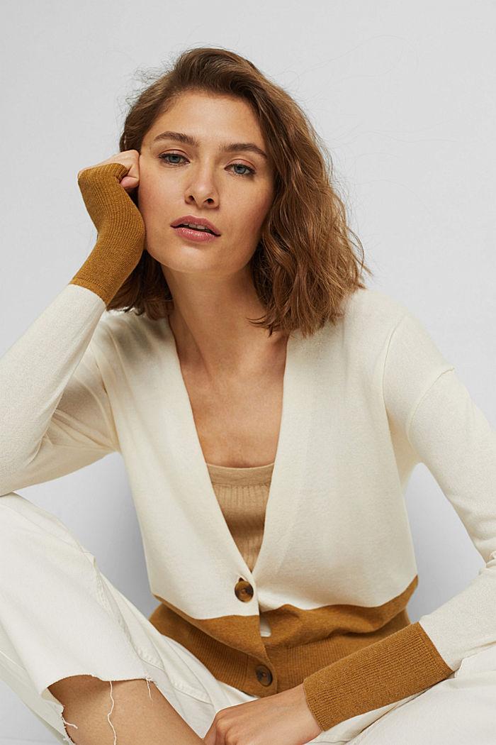 Cardigan aus 100% Pima-Baumwolle, OFF WHITE, detail image number 0