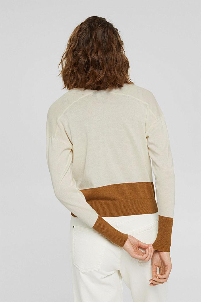 Cardigan aus 100% Pima-Baumwolle, OFF WHITE, detail image number 3